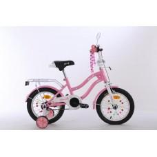 Велосипед детский двухколесный для девочек PROFI XD1291 Star, 12 дюймов, розовый