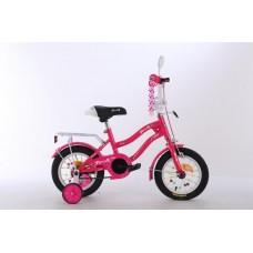 Велосипед детский двухколесный для девочек PROFI XD1292 Star, 12 дюймов, малиновый