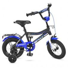 Велосипед детский двухколесный PROFI Y12101 Top Grade, 12 дюймов, сине-черный