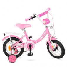 Велосипед детский двухколесный для девочек PROFI Y1211 Princess, 12 дюймов, розовый