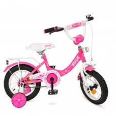 Велосипед детский двухколесный для девочек PROFI Y1213 Princess, 12 дюймов, малиновый