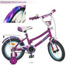 Велосипед детский двухколесный PROFI Y12161 Geometry, 12 дюймов, фиолетовый