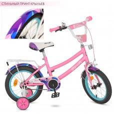 Велосипед детский двухколесный для девочек PROFI Y12162 Geometry, 12 дюймов, розовый