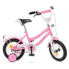 Велосипед детский двухколесный для девочек PROFI Y1291 Star, 12 дюймов, розовый