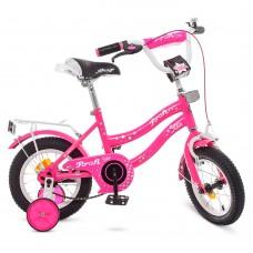 Велосипед детский двухколесный для девочек PROFI Y1292 Star, 12 дюймов, малиновый
