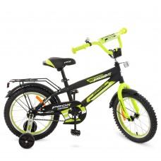 Велосипед детский двухколесный PROFI G1451 Inspirer, 14 дюймов, салатово-черный