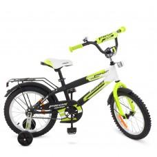 Велосипед детский двухколесный PROFI G1454 Inspirer, 14 дюймов, черно-бело-салатовый
