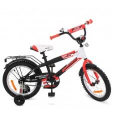 Велосипед детский двухколесный PROFI G1455 Inspirer, 14 дюймов, черно-бело-красный