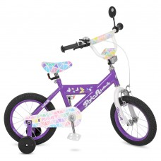 Велосипед детский двухколесный PROFI L14132 Butterfly, 14 дюймов, сиреневый