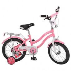 Велосипед детский двухколесный для девочек PROFI L1491 Star, 14 дюймов, розовый