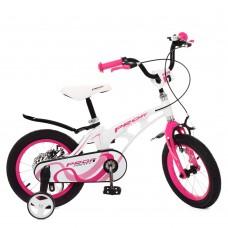 Велосипед детский двухколесный PROFI LMG14204 Infinity, 14 дюймов, розово-белый