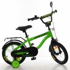 Велосипед детский двухколесный PROFI SY14152 Space, 14 дюймов, зеленый