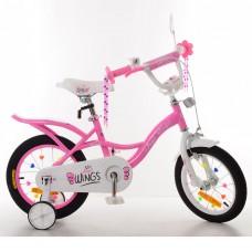 Велосипед детский двухколесный PROFI SY14191 Angel Wings, 14 дюймов, розовый