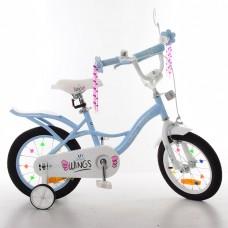 Велосипед детский двухколесный PROFI SY14196 Angel Wings, 14 дюймов, голубой