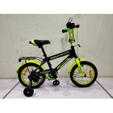 Велосипед детский двухколесный PROFI SY1451 Inspirer, 14 дюймов, черно-салатовый