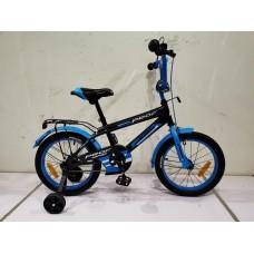 Велосипед детский двухколесный PROFI SY1453 Inspirer, 14 дюймов, черно-синий