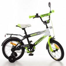 Велосипед детский двухколесный PROFI SY1454 Inspirer, 14 дюймов, бело-салатовый