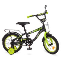 Велосипед детский двухколесный PROFI T14152 Space, 14 дюймов, салатово-черный