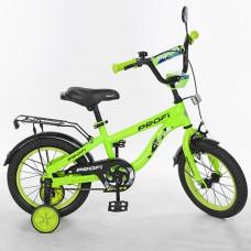Велосипед детский двухколесный PROFI T14153 Space, 14 дюймов, салатовый