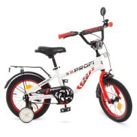 Велосипед детский двухколесный PROFI T14154 Space, 14 дюймов, красно-белый