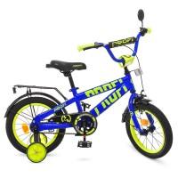 Велосипед детский двухколесный PROFI T14175 Flash, 14 дюймов, синий