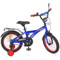 Велосипед детский двухколесный PROFI T1433 Racer, 14 дюймов, синий