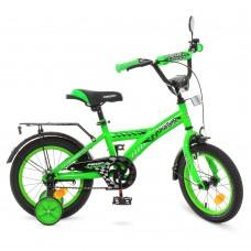 Велосипед детский двухколесный PROFI T1436 Racer, 14 дюймов, зеленый