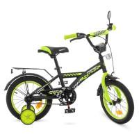 Велосипед детский двухколесный PROFI T1437 Racer, 14 дюймов, салатово-черный