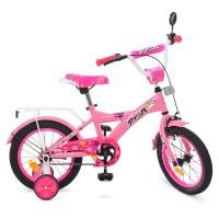 Велосипед детский двухколесный для девочек PROFI T1461 Original girl, 14 дюймов, розовый