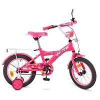 Велосипед детский двухколесный для девочек PROFI T1462 Original girl, 14 дюймов, малиновый
