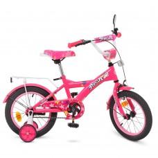 Велосипед детский двухколесный PROFI T1462 Original girl, 14 дюймов, малиновый