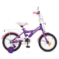 Велосипед детский двухколесный для девочек PROFI T1463 Original girl, 14 дюймов, розово-фиолетовый
