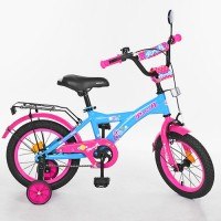 Велосипед детский двухколесный для девочек PROFI T1464 Original girl, 14 дюймов, розово-голубой