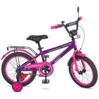 Велосипед детский двухколесный для девочек PROFI T1477 Forward, 14 дюймов, розово-фиолетовый