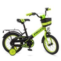 Велосипед детский двухколесный PROFI W14115-6 Original, 14 дюймов, салатовый