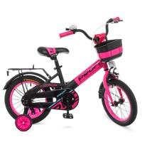 Велосипед детский двухколесный для девочек PROFI W14115-7 Original, 14 дюймов, малиновый