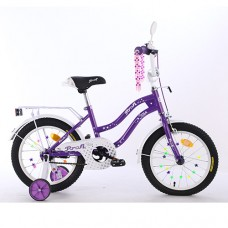 Велосипед детский двухколесный PROFI XD1493 Star, 14 дюймов, фиолетовый