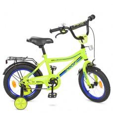Велосипед детский двухколесный PROFI Y14102 Top Grade, 14 дюймов, салатовый