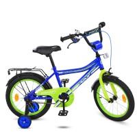 Велосипед детский двухколесный PROFI Y14103 Top Grade, 14 дюймов, синий