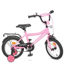 Велосипед детский двухколесный для девочек PROFI Y14106 Top Grade, 14 дюймов, розовый