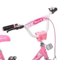Велосипед детский двухколесный для девочек PROFI Y1411 Princess, 14 дюймов, розовый