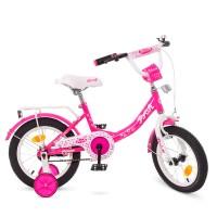 Велосипед детский двухколесный для девочек PROFI Y1413 Princess, 14 дюймов, малиновый