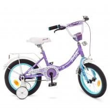 Велосипед детский двухколесный для девочек PROFI Y1415 Princess, 14 дюймов, сиреневый