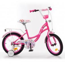 Велосипед детский двухколесный для девочек PROFI Y1423-1 Bloom, 14 дюймов, малиновый
