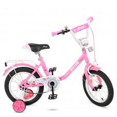 Велосипед детский двухколесный PROFI Y1481 Flower, 14 дюймов, розовый