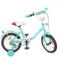 Велосипед детский двухколесный для девочек PROFI Y1484 Flower, 14 дюймов, мятный