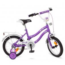 Велосипед детский двухколесный для девочек PROFI Y1493 Star, 14 дюймов, сиреневый