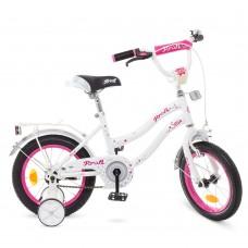 Велосипед детский двухколесный для девочек PROFI Y1494 Star, 14 дюймов, белый