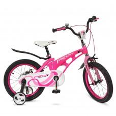 Велосипед детский двухколесный для девочек PROFI LMG14203 Infinity, 14 дюймов, малиновый