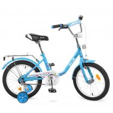 Велосипед детский двухколесный PROFI L1684 Flower, 16 дюймов, голубой